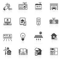 Icônes de la maison intelligente noir
