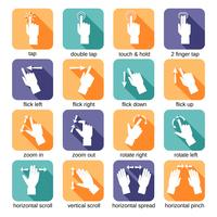 Icônes de gestes d'interface tactile