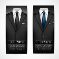 Collection d'invitation costume homme d'affaires vecteur