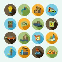 jeu d'icônes de la pollution