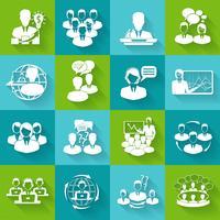 Icônes de réunion définies en blanc