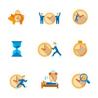 Jeu d'icônes de gestion du temps