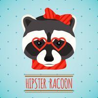 Portrait de hipster animal vecteur