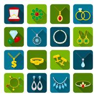 Jeu d'icônes de bijoux