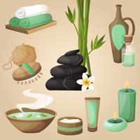 Concept d'icônes de spa