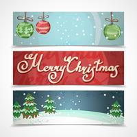 Bannières de Noël horizontales vecteur