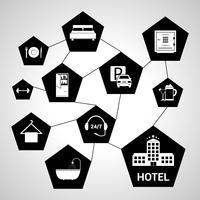 Concept de services hôteliers vecteur