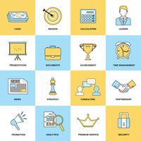 jeu d'icônes marketing vecteur