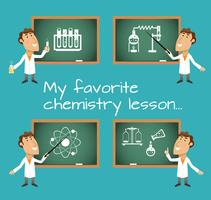 Tableaux de cours de chimie vecteur