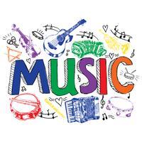 Croquis de couleur de fond de musique