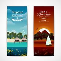 Bannières verticales des îles tropicales