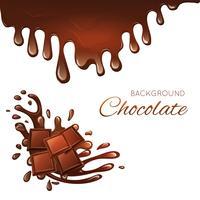 Tablette de chocolat au lait et éclaboussures vecteur