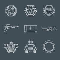 Icônes de jeu de l'espace vecteur
