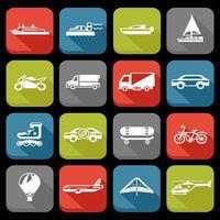 jeu d'icônes de transport vecteur