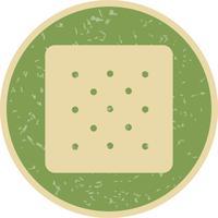 Icône de biscuit de vecteur