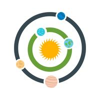 Icône de vecteur de système solaire