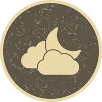 Nuage et lune Vector Icon