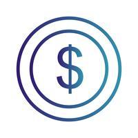 Icône de dollars de vecteur