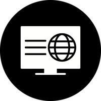 Icône de page Web Vector