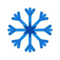 Icône de vecteur de flocon de neige