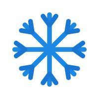 Icône de vecteur de neige