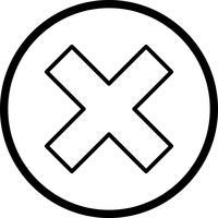 Annuler l'icône de vecteur