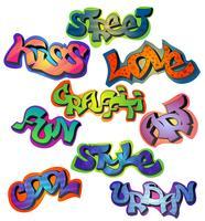 Graffiti Words Set vecteur