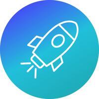 Vaisseau spatial, vecteur, icône vecteur