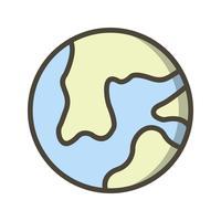 Icône de vecteur de la terre