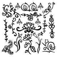 Éléments de décoration vintage vecteur