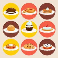 Jeu de couleurs de biscuits vecteur