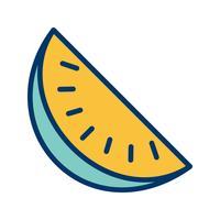 Icône de pastèque de vecteur