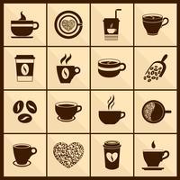 Icônes de tasse à café noir