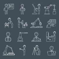Contour des icônes d'ingénierie