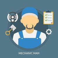 Mécanicien homme Illustration conceptuelle Design vecteur