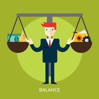 Balance Illustration conceptuelle Design vecteur