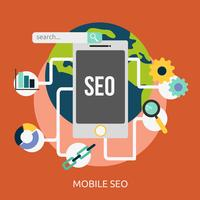 Mobile SEO Conceptuel illustration Design vecteur