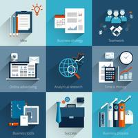 Ensemble de concepts d'affaires vecteur