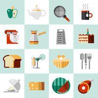 Cuisson des icônes alimentaires vecteur