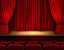 Fond de scène de théâtre vecteur