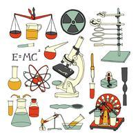 Icônes de croquis scientifiques