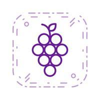 Icône de raisins de vecteur