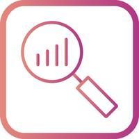Icône d'analyse de vecteur