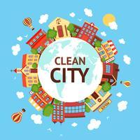 Fond de paysage urbain propre vecteur