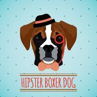 Portrait de chien hipster