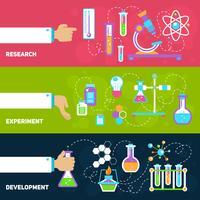 Bannières de conception de la chimie vecteur