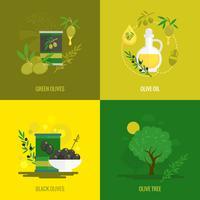 Ensemble de mini affiches Olives