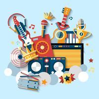 Ensemble d'instruments de musique vecteur