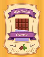 Affiche de barre de chocolat