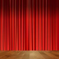 Fond de rideaux de théâtre